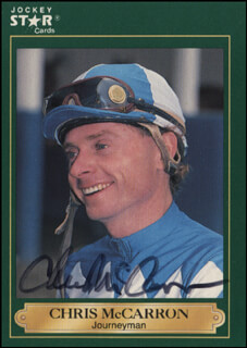 Autographs: CHRIS McCARRON - TRADING/SPORTS CARD SIGNED