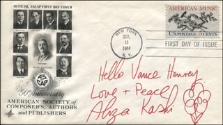 ALIZA KASHI - INSCRIBED FIRST DAY COVER SIGNED