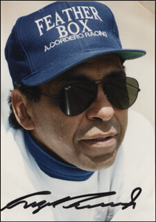 Autographs: ANGEL CORDERO JR. - PHOTOGRAPH SIGNED