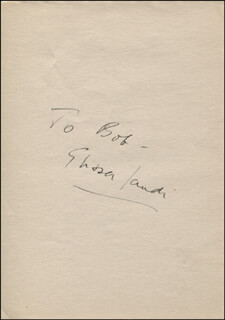 ELISSA LANDI - INSCRIBED SIGNATURE