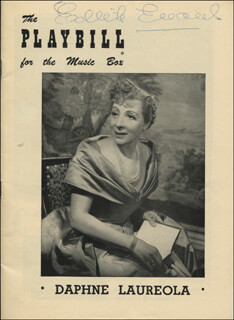 DAME EDITH EVANS - SHOW BILL SIGNED