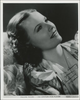 PAULINE MOORE - AUTOGRAPHED INSCRIBED PHOTOGRAPH