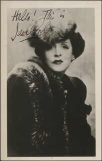 JANE COWL - AUTOGRAPHED SIGNED PHOTOGRAPH