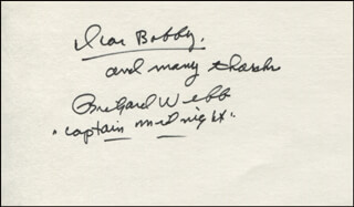 RICHARD WEBB - AUTOGRAPH NOTE SIGNED