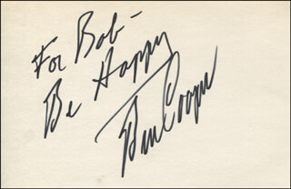 BEN COOPER - AUTOGRAPH NOTE SIGNED