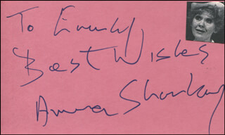 ANNA SHARKEY - AUTOGRAPH NOTE SIGNED