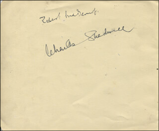 CHARLES SHADWELL - AUTOGRAPH CO-SIGNED BY: ROBERT MCDERMOTT, DORIS ARNOLD