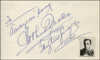 ARTHUR TRACY - AUTOGRAPH NOTE SIGNED 05/04/1984