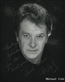MICHAEL COLE - INSCRIBED PRINTED PHOTOGRAPH SIGNED IN INK