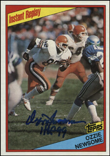 OZZIE NEWSOME - TRADING/SPORTS CARD SIGNED