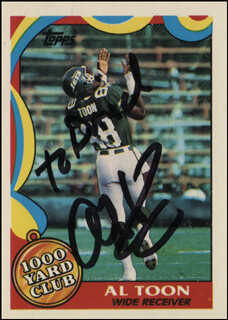 Autographs: AL TOON - INSCRIBED TRADING/SPORTS CARD SIGNED