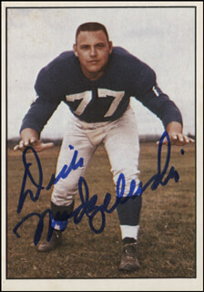 DICK MODZELEWSKI - TRADING/SPORTS CARD SIGNED