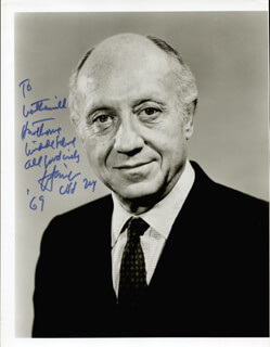 JACOB K. JAVITS - AUTOGRAPHED INSCRIBED PHOTOGRAPH 1969
