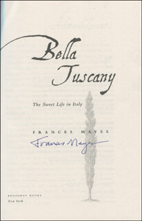 FRANCES MAYES - BOOK SIGNED