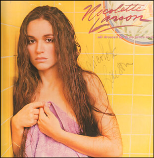 NICOLETTE LARSON - RECORD ALBUM COVER SIGNED