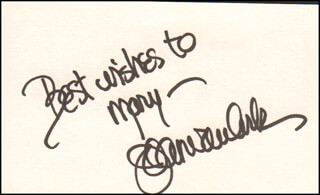 JOAN VAN ARK - AUTOGRAPH NOTE SIGNED