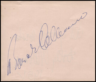 BONAR COLLEANO - AUTOGRAPH CIRCA 1951 CO-SIGNED BY: DOLLY HARMER