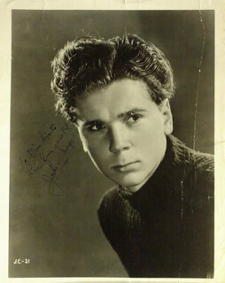 JACKIE COOPER - AUTOGRAPHED INSCRIBED PHOTOGRAPH