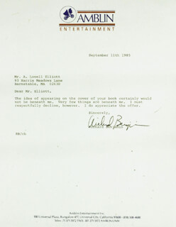 RICHARD BENJAMIN - TYPED LETTER SIGNED 09/11/1985