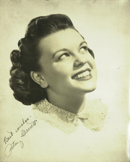 PATSY (VIRGINIA) GARRETT - AUTOGRAPHED SIGNED PHOTOGRAPH