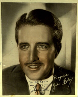 Autographs: JOHN BOLES - INSCRIBED PHOTOGRAPH SIGNED CIRCA 1936