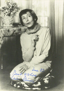 LUISE RAINER - AUTOGRAPHED SIGNED PHOTOGRAPH 06/1982