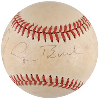 PRESIDENT GEORGE H.W. BUSH - INSCRIBED BASEBALL SIGNED