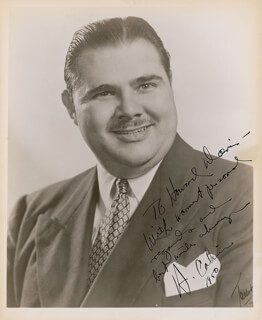 HENRY CALVIN - AUTOGRAPHED INSCRIBED PHOTOGRAPH 1950