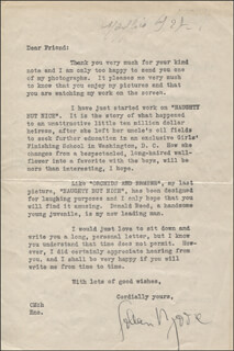 COLLEEN MOORE - TYPED LETTER SIGNED