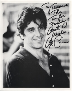 Autographs: AL PACINO - INSCRIBED PHOTOGRAPH SIGNED