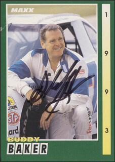 BUDDY BAKER - TRADING/SPORTS CARD SIGNED