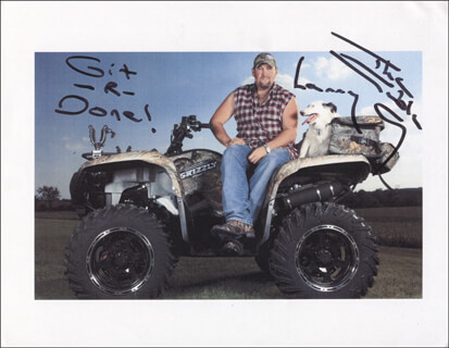 LARRY THE CABLE GUY (DANIEL LAWRENCE WHITNEY) - AUTOGRAPHED SIGNED PHOTOGRAPH