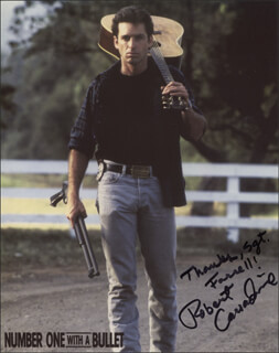 ROBERT CARRADINE - INSCRIBED PRINTED PHOTOGRAPH SIGNED IN INK