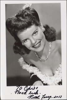 RUTH TERRY - AUTOGRAPHED INSCRIBED PHOTOGRAPH 2013
