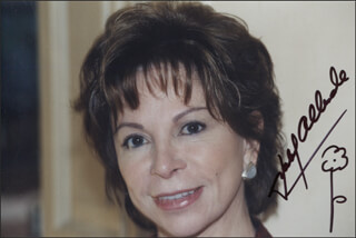 ISABEL ALLENDE - AUTOGRAPHED SIGNED PHOTOGRAPH