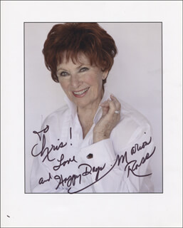 MARION ROSS - AUTOGRAPHED INSCRIBED PHOTOGRAPH