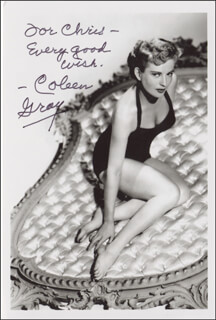 COLEEN GRAY - AUTOGRAPHED INSCRIBED PHOTOGRAPH