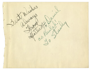 HATTIE MAMMY McDANIEL - AUTOGRAPH NOTE SIGNED