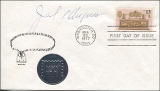 JACK KLUGMAN - FIRST DAY COVER SIGNED