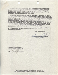 Autographs: FRANCES LANGFORD - CONTRACT SIGNED 05/15/1946