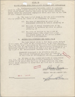 CHARLES FARRELL - CONTRACT DOUBLE SIGNED 05/09/1952