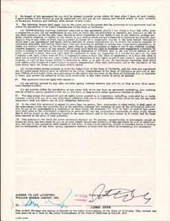 JIMMY DEAN - CONTRACT SIGNED 05/19/1970