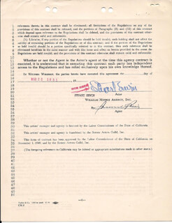 STUART ERWIN - CONTRACT SIGNED 03/26/1951