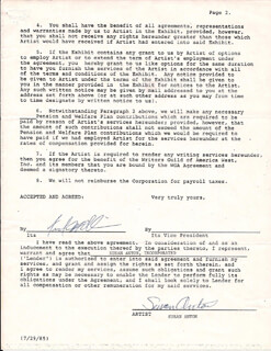 SUSAN ANTON - CONTRACT SIGNED 01/23/1987