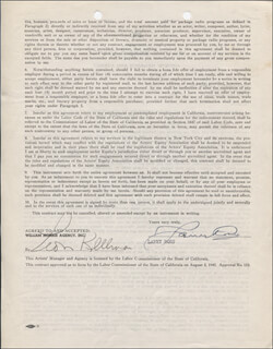 MAJOR LANNY ROSS - CONTRACT SIGNED 07/30/1946
