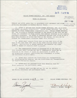 ADRIAN ZMED - CONTRACT SIGNED 06/08/1989