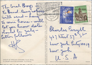 HERMIONE GINGOLD - AUTOGRAPH NOTE SIGNED CIRCA 1970