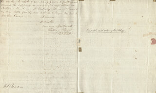 WILLIAM READ - AUTOGRAPH LETTER SIGNED 01/05/1802