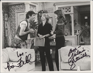 ONE DAY AT A TIME TV CAST - AUTOGRAPHED SIGNED PHOTOGRAPH CO-SIGNED BY: BONNIE FRANKLIN, VALERIE BERTINELLI, PAT HARRINGTON JR.