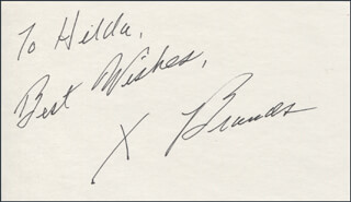 Autographs: X BRANDS - AUTOGRAPH NOTE SIGNED